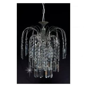ST01700/20/01/AN Shower Coffin 1 Light Crystal Pendant Antique Nickel