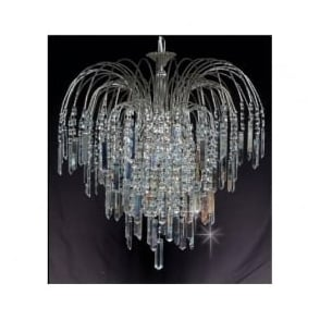 ST01700/47/06/N Shower Coffin 6 Light Crystal Pendant Nickel