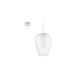 94337 Vencino 1 Light Ceiling Pendant White Chrome