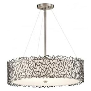 Kichler KL/SILCORAL/P/B Silver Coral 4 Light Ceiling Light Pewter