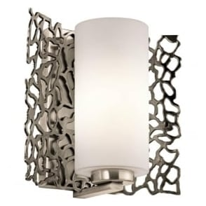 Kichler KL/SILCORAL1 Silver Coral 1 Light Wall Light Pewter