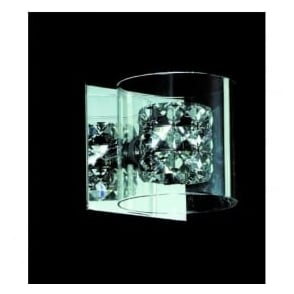 CFH211171/01/WB/CH Sonja 1 Light Crystal Wall Light Chrome