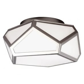 Feiss FE/DIAMOND/F Diamond 1 Light Ceiling Light Polished Nickel