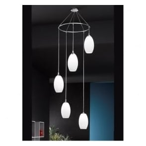 FL2199/5/818 Modern 5 Light Ceiling Pendant Chrome