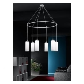 FL2199/6/887 Modern 6 Light Ceiling Pendant Chrome