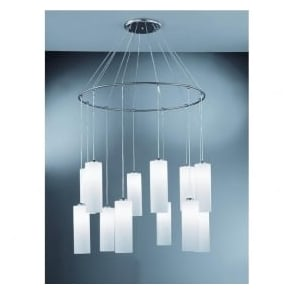 CO93212/887 Modern 12 Light Ceiling Pendant Chrome