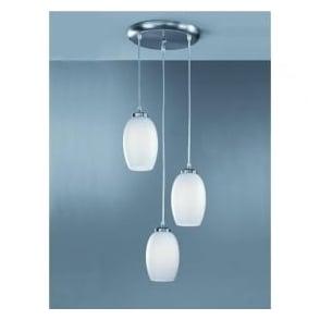 CO9573/448 Modern 3 Light Ceiling Pendant Satin Nickel
