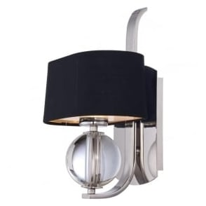 Quoizel QZ/GOTHAM1 Gotham 1 Light Wall Light Imperial Silver