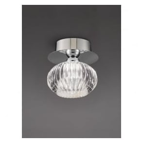 CF5749 Tizzy 1 Light Semi-flush Ceiling Light Chrome