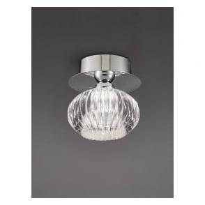 CF5749 Tizzy 1 Light Semi-flush Ceiling Light Chrome