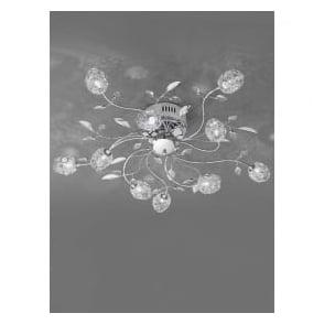 FL2210/10 Nebula 10 Light Crystal Semi-Flush Ceiling Light Polished Chrome