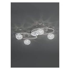 FL2325/4 Spirelle 4 Light Semi-Flush Ceiling Light Polished Chrome