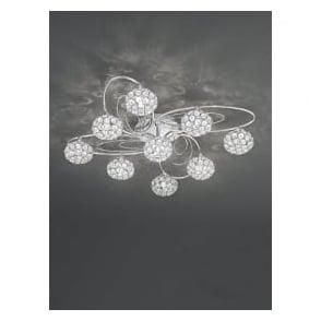 FL2325/9 Spirelle 9 Light Semi-Flush Ceiling Light Polished Chrome