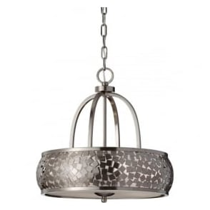Feiss FE/ZARA4 Zara 4 Light Ceiling Pendant Brushed Steel