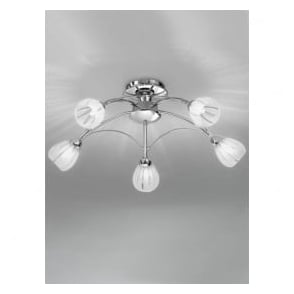 FL2206/5 Chloris 5 Light Semi-flush Ceiling Light Chrome