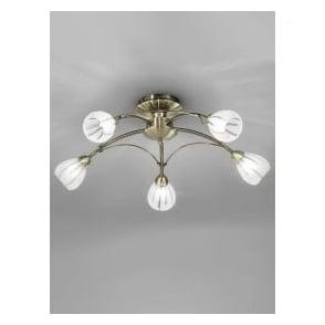 FL2207/5 Chloris 5 Light Semi-flush Ceiling Light Bronze