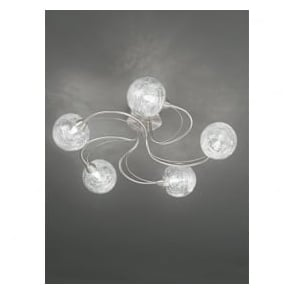 FL2327/5 Gyro 5 Light Semi-flush Ceiling Light Satin Nickel