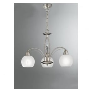 FL2277/3 Thea 3 Light Ceiling Light Satin Nickel