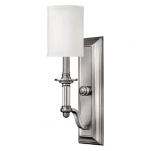 Hinkley HK/SUSSEX1 Sussex 1 Light Wall Light Brushed Nickel