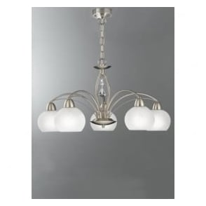 FL2277/5 Thea 5 Light Ceiling Light Satin Nickel
