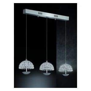 FL2349/3 Illusion 3 Light LED Ceiling Pendant Polished Chrome