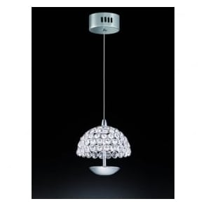 FL2349/1 Illusion 1 Light LED Ceiling Pendant Polished Chrome (Small)