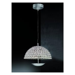 FL2350/1 Illusion 1 Light LED Ceiling Pendant Polished Chrome (Large)