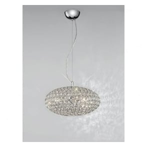 FL2273/3 Marquesa 3 Light Crystal Ceiling Pendant Polished Chrome