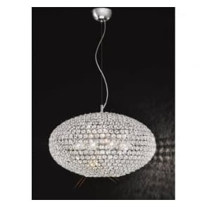 FL2273/8 Marquesa 8 Light Crystal Ceiling Pendant Polished Chrome