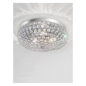 FL2275/3 Marquesa 3 Light Crystal Flush Ceiling Light Polished Chrome