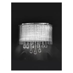 FL2161/2 Spirit 2 Light Crystal Wall Light Polished Chrome