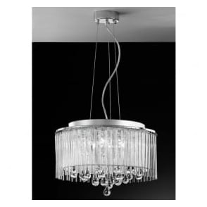 FL2161/6 Spirit 6 Light Crystal Ceiling Pendant Polished Chrome