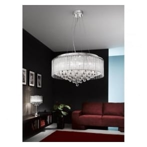 FL2161/8 Spirit 8 Light Crystal Ceiling Pendant Polished Chrome