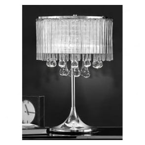 TL853 Spirit 3 Light Crystal Table Lamp Polished Chrome