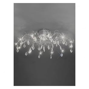 FL2234/13 Chantilly 13 Light Ceiling Light Polished Chrome