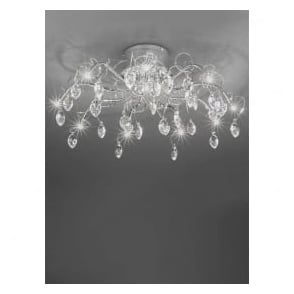 FL2234/10 Chantilly 10 Light Ceiling Light Polished Chrome