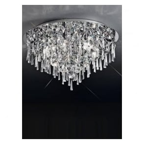 CF5718 Jazzy 6 Light Crystal Semi-flush Ceiling Light Polished Chrome