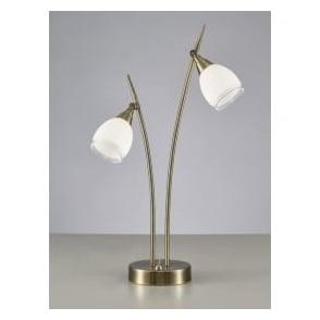 TL984 Lutina 2 Light Table Lamp Bronze