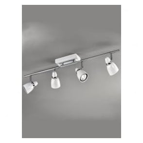 SPOT8934 Pixon 4 Light Ceiling Spotlight White/Chrome