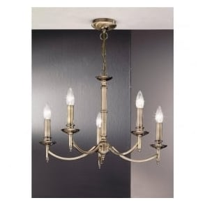 FL2091/5 Petrushka 5 Light Ceiling Light Bronze