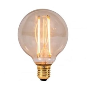 ES/E27 BC/B22 LED 4 Watt Vintage Globe Amber Bulb