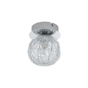 92651 Prodo 1 Light Semi Flushed Ceiling Light Polished Chrome