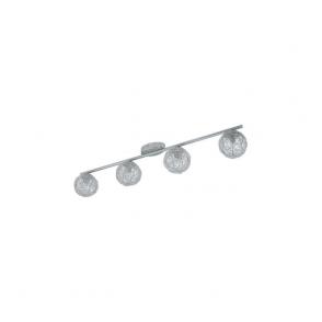 92654 Prodo 4 Light Semi Flushed Spot Ceiling Light Polished Chrome