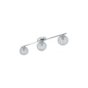 92653 Prodo 3 Light Semi Flushed Spot Ceiling Light Polished Chrome