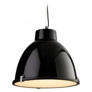 3621BK Manhattan 1 Light Ceiling Pendant Black