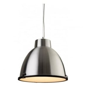 3621AL Manhattan 1 Light Ceiling Pendant Aluminium