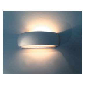 Alfie Lighting 0322DUR Durham 1 Light Double Insulated Gypsum Wall Light