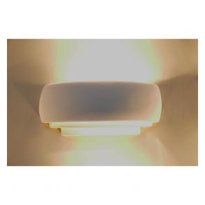 Alfie Lighting 0322GAT Gateshead 1 Light Double Insulated Gypsum Wall Light
