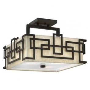 Elstead Hinkley HK/LANZA/SF Lanza 3 Light Ceiling Light Bronze