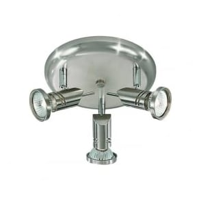 Franklite SPOT8633 Scintilla 3 Light Spotlight Satin Nickel